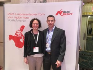 James Brady attending Nobel Biocare event.