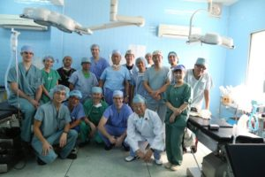 Group photo of all the dental workers during the trip to Vietnam.